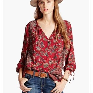 Lucky brand paisley floral top